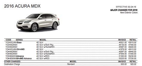 2016 acura mdx models trim levels 2016 diminished