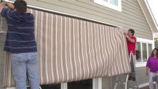 replacing a retractable awning s fabric removal installation - Sunsetter Awning Replacement Fabric