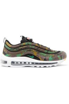 nike air max 97 green camo nike air max 97 country camo leather and canvas trainers in green lyst