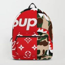 supreme x bape backpack supreme backpacks society6