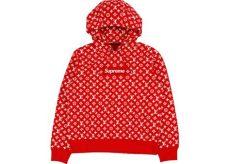 louis vuitton x supreme food hoodies red supreme x louis vuitton box logo hooded sweatshirt ss17