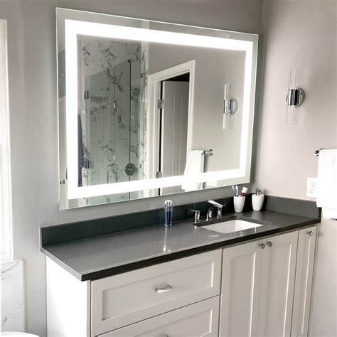 front lighted led bathroom vanity mirror 60 40