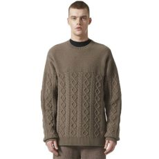 adidas originals x wings horns mens felted crew simple brown adidas originals by wings horns felted crew neck jumper simple brown consortium