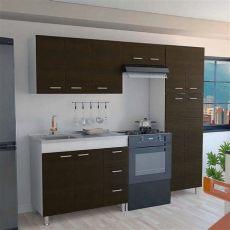 precios de cocinas integrales en homecenter cocina integral ferreti 2 20 metros 11 puertas 3 cajones wengue incluye mes 243 n izquierdo en acero
