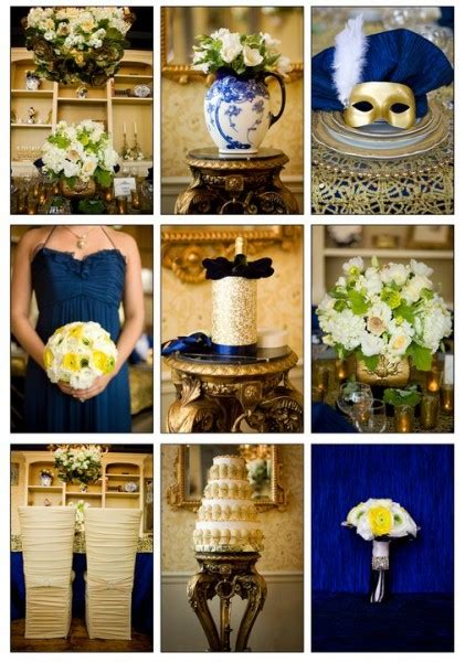 wedding theme french luxury blue gold enchanting events