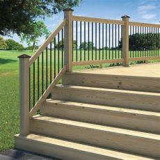 deck stair kits home depot rail deck railing kit lightning pressure treated solid aluminum balusters 6 ft 90489279905 ebay