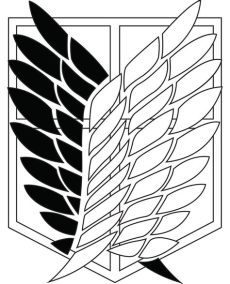 17 best images about attack on on attack on titan anime attack titan and wings - Attack On Titan Logo Black And White