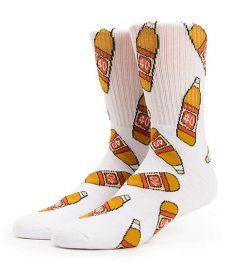 40s and shorties 40oz white crew socks zumiez - 40s And Shorties Socks