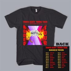 travis scott rodeo tour merch travis rodeo thug t shirt top tour date concert shirt ebay