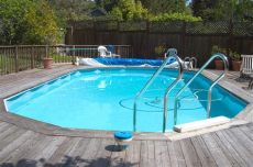 above ground pool deck plans oval above ground oval pool deck plans pool design ideas
