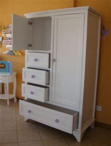 muebles infantiles ropero linea pottery modelo madelaine laqueado - Roperos De Madera Para Ninos Precios