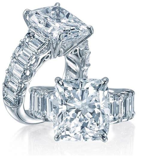 cushion cut engagement ring elegant unique statement solid