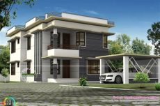 car porch tiles design in kerala separate car porch flat roof home kerala design floor plans home intended for size 1600 x 1066