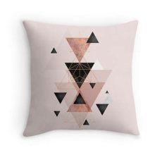 geometric triangles in blush and rose gold geometric triangles in blush and gold throw pillow gold wallpaper gold wallpaper