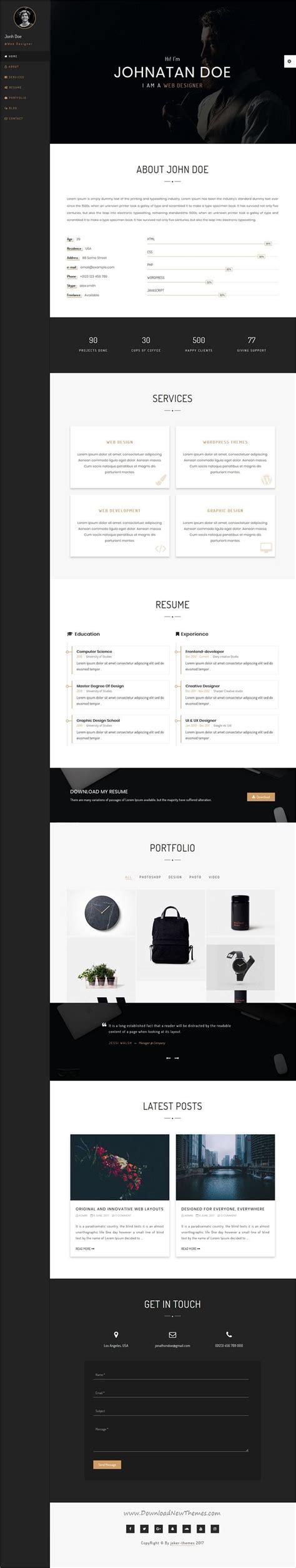 personia clean modern design responsive html template creative