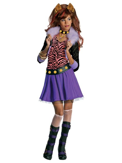 girls clawdeen wolf costume monster high fancy dress