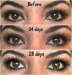eye wonder monat before and after my personal results on monat s eye apply 2x s a day to makeup free eye lids for 28 days