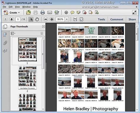 create contact sheets lightroom