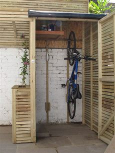 tifany my how to build a small bike shed - Diy Bike Storage Shed
