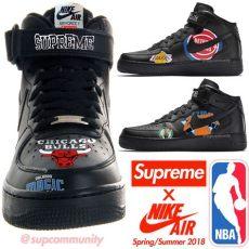 supreme x nike air 1 mid 07 nba mock up sneakers magazine - Air Force 1 Mid Nba X Supreme