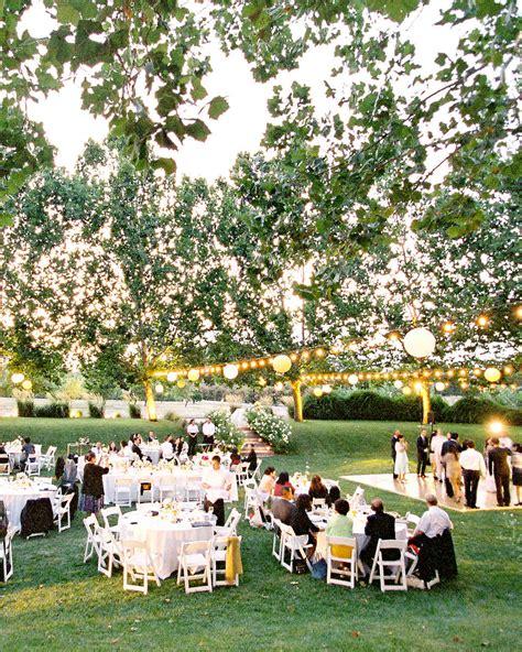 outdoor wedding lighting ideas real celebrations martha stewart