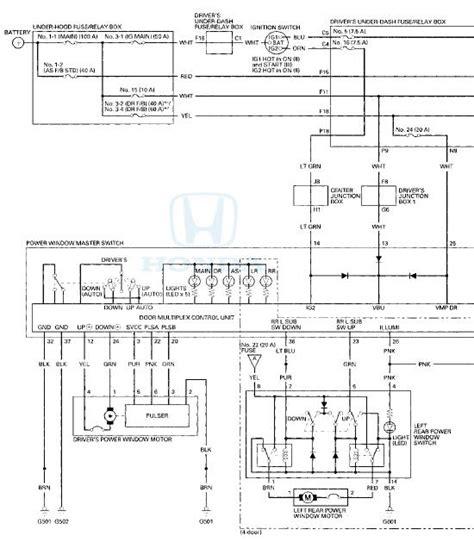 honda accord circuit diagram power windows body electrical
