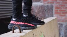 yeezy black friday red on feet yeezy sply 350 quot quot on ward