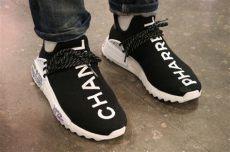 adidas pharrell williams x cc hu nmd chanel an on look at the chanel x adidas originals pharrell williams hu nmd hubwav