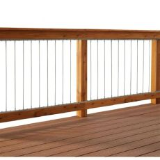 vertical stainless steel cable railing kit for 36 in high railings 90636 the home depot - Cable Deck Railing Kits Home Depot