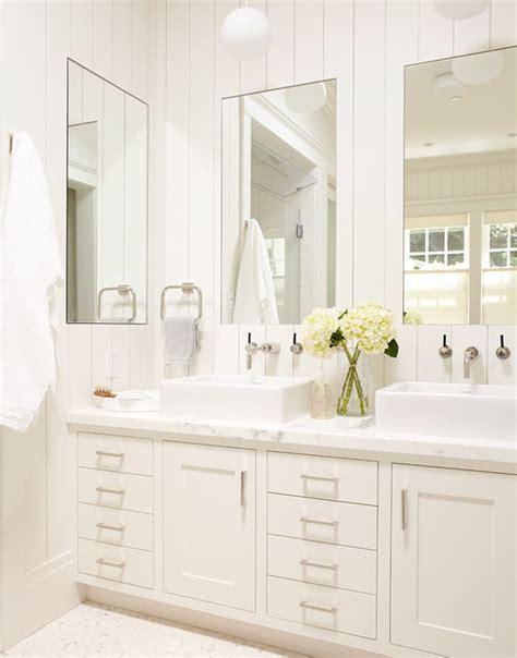 master bathroom white vanity sinks large mirrors traditional