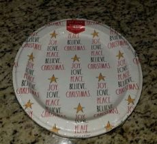 rae dunn christmas paper plates dunn quot peace believe quot 16 white paper plates 10 5in for sale ebay