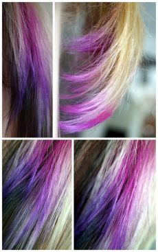 directions haare farben waste your time and money 083 gef 228 rbt dip dye directions violet und flamingo