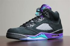 air jordan 5 black grape air 5 v retro quot black grape quot new photos