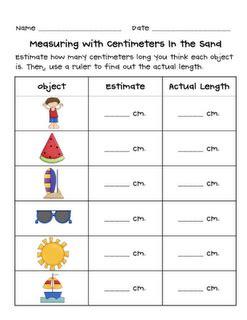 grade 2 math number a6 estimation measuring length