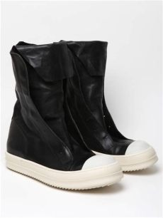 rick owens ramones boots rick owens mens leather ramones boot in black for lyst