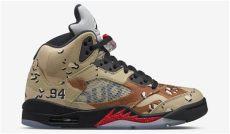 supreme air 5 camo sneaker bar detroit - Nike Air Jordan 5 Supreme