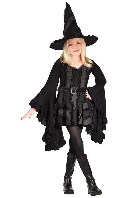 black witch costume girls