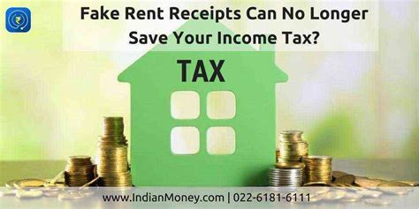 fake rent receipts longer save income tax indianmoney