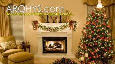 ideas para decorar en navidad 2014 salas adornos casas regalos espacios interiores - Salas Pequenas Decoradas Navidenas