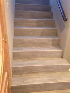 floor tiles stairs photo of tfi tile marble design orange ca united states porcelain wood plank stairs