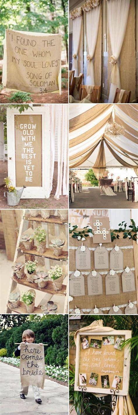 complete burlap rustic wedding ideas inspiration cheap wedding