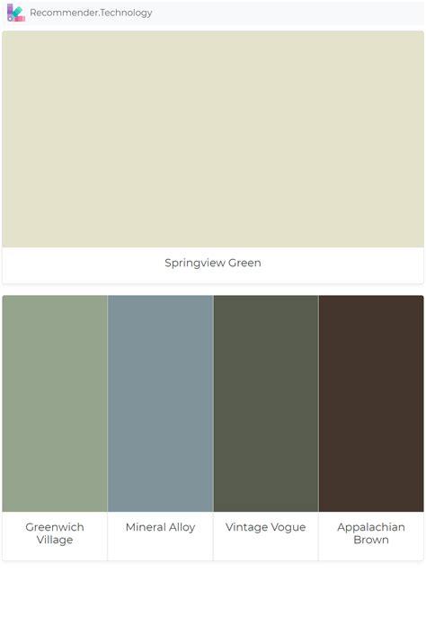 springview green greenwich village mineral alloy vintage vogue