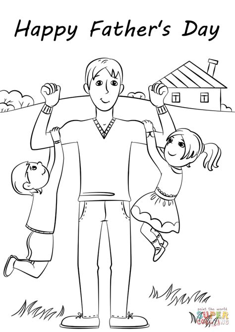 happy father day coloring page free printable coloring