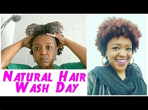 natural hair wash day routine type 4 hair