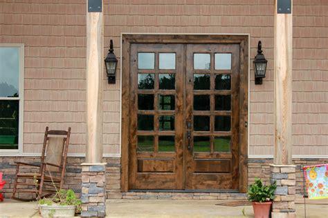 rustic patio doors knotty alder wood