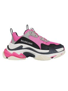 balenciaga s sneakers in fluo pink grey white modesens - Balenciaga Pink White Triple S Sneakers