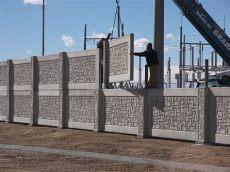 precast concrete fence panels cost fence systems precast concrete walls stonetree fences