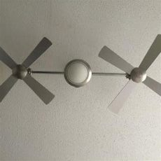 find more harbor airspan 69 quot dual ceiling fan for sale at up to 90 mountain brook al - Harbor Breeze Dual Fan Silver
