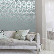 teal shimmer wallpaper shimmer desire wallpaper teal silver 50041 from henderson interiors uk