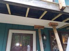diy deck water diversion project totallyuniquelife - Under Deck Water Diversion